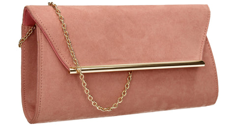 Sabrina Clutch Bag Blush-Clutch Bag-SWANKYSWANS