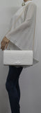 SWANKYSWANS Michelle Clutch Bag White Cute Cheap Clutch Bag For Weddings School and Work
