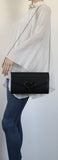 SWANKYSWANS Corrie Heart Clutch Bag Black Cute Cheap Clutch Bag For Weddings School and Work