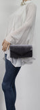 SWANKYSWANS Jess Clutch Bag Grey Cute Cheap Clutch Bag For Weddings School and Work