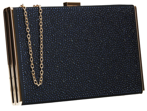 Shanina Clutch Bag Navy-Clutch Bag-SWANKYSWANS