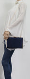 SWANKYSWANS Shanina Clutch Bag Navy Cute Cheap Clutch Bag For Weddings School and Work