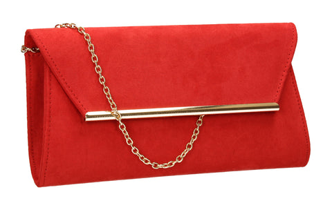 Sabrina Clutch Bag Red-Clutch Bag-SWANKYSWANS