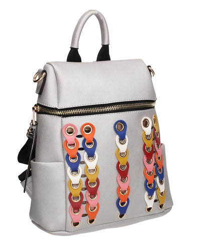 Brandy Backpack Silver Perfect Backpack for school!