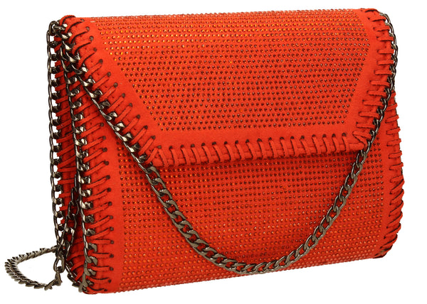 SWANKYSWANS Soi Diamante Clutch Bag Scarlet Cute Cheap Clutch Bag For Weddings School and Work