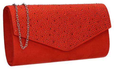 Sandra Clutch Bag Scarlet