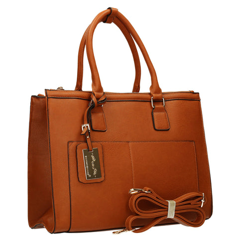 Naples Cosmo City Work Bag - Tan-Handbags-SWANKYSWANS