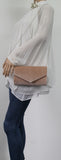 SWANKYSWANS Jess Clutch Bag Beige Cute Cheap Clutch Bag For Weddings School and Work