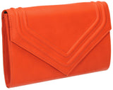 SWANKYSWANS Ashby Envelope Clutch Bag Orange Cute Cheap Clutch Bag For Weddings School and Work