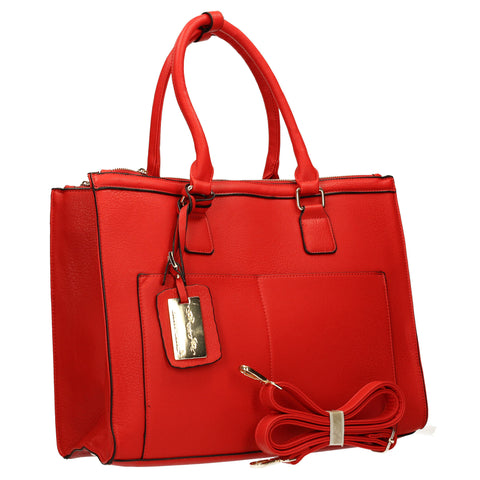 Naples Cosmo City Work Bag - Red-Handbags-SWANKYSWANS