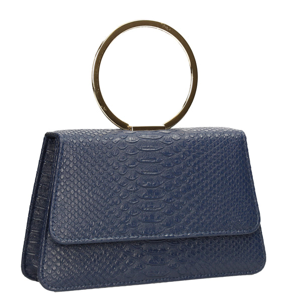 SWANKYSWANS Piper Clutch Bag Navy Blue Cute Cheap Clutch Bag For Weddings School and Work