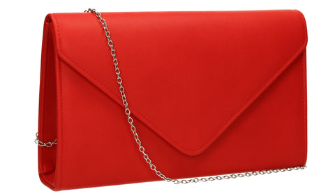 SWANKYSWANS Jenny Envelope Clutch Bag Red Cute Cheap Clutch Bag For Weddings School and Work