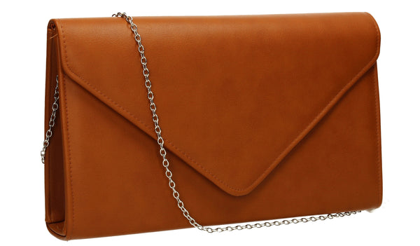 SWANKYSWANS Jenny Envelope Clutch Bag Brown Cute Cheap Clutch Bag For Weddings School and Work