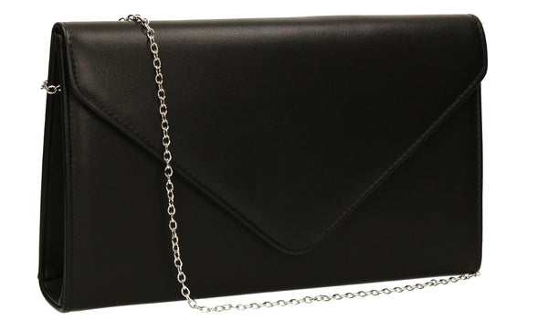 SWANKYSWANS Jenny Envelope Clutch Bag Black Cute Cheap Clutch Bag For Weddings School and Work