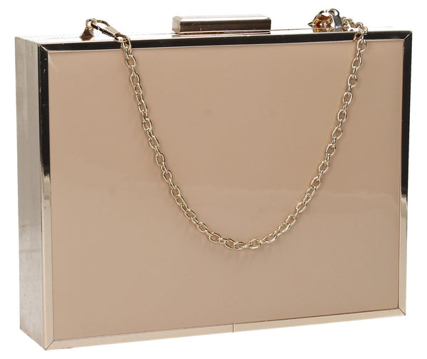 SWANKYSWANS Kate Box Clutch Bag Beige Cute Cheap Clutch Bag For Weddings School and Work