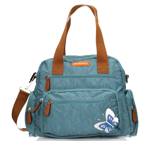 Swanky Swans Katy Handbag with 3d Butterfly Motif Light BlueCheap Fashion Wedding Work School