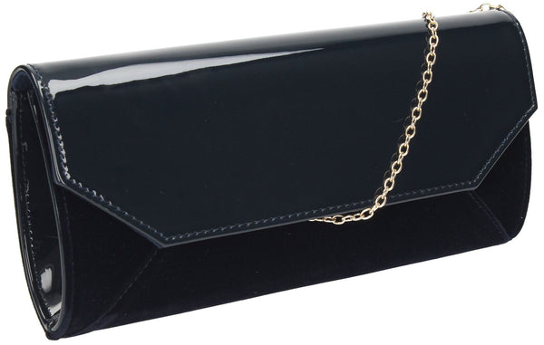SWANKYSWANS Kiera Clutch Bag Navy Cute Cheap Clutch Bag For Weddings School and Work