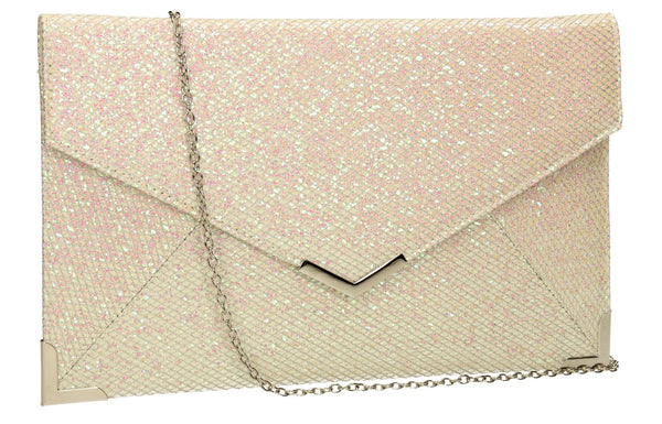 SWANKYSWANS Korie Clutch Bag White Cute Cheap Clutch Bag For Weddings School and Work