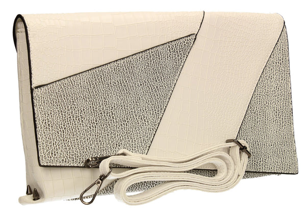 SWANKYSWANS Kristen Clutch Bag White Cute Cheap Clutch Bag For Weddings School and Work