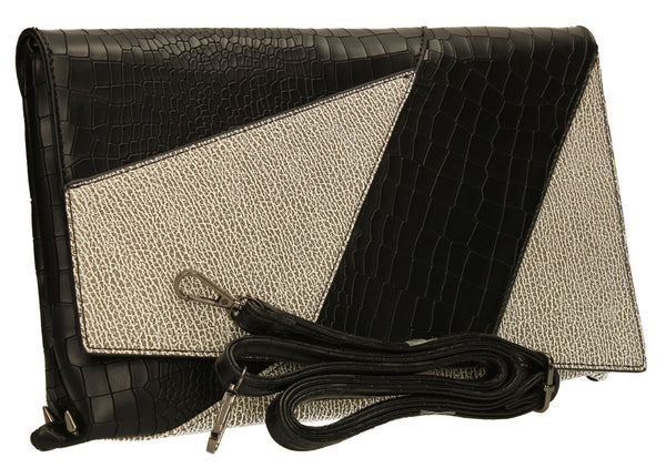 SWANKYSWANS Kristen Clutch Bag Black Cute Cheap Clutch Bag For Weddings School and Work