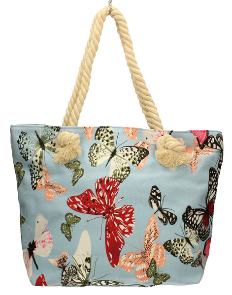 Swanky Swans Beach Butterfly Summer Handbag BlueCheap Fashion Wedding Work School