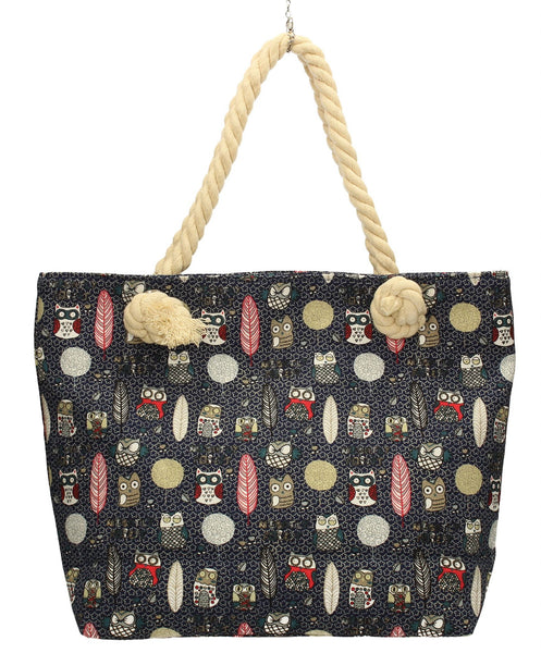 Swanky Swans Beach Owl Summer Handbag BlackCheap Fashion Wedding Work School