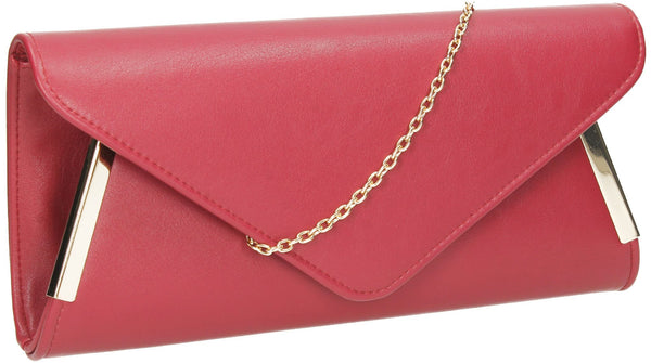 SWANKYSWANS Laurie Clutch Bag Burgundy Cute Cheap Clutch Bag For Weddings School and Work