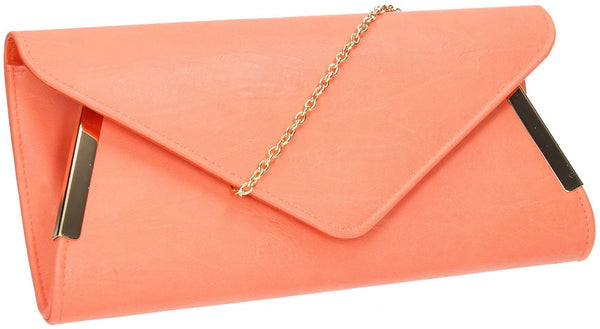 SWANKYSWANS Laurie Clutch Bag Coral Cute Cheap Clutch Bag For Weddings School and Work