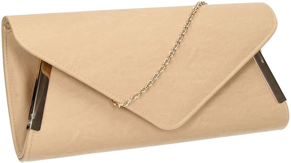 SWANKYSWANS Laurie Clutch Bag Flesh Cute Cheap Clutch Bag For Weddings School and Work