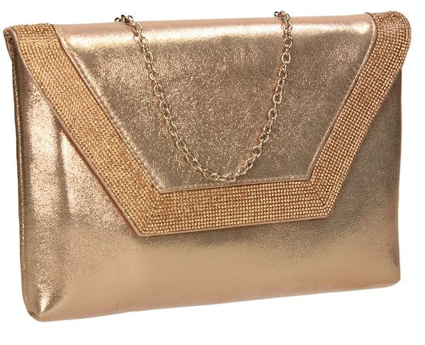 SWANKYSWANS Lilly Clutch Bag Champagne Cute Cheap Clutch Bag For Weddings School and Work