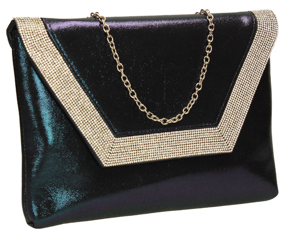 SWANKYSWANS Lilly Clutch Bag Navy Cute Cheap Clutch Bag For Weddings School and Work
