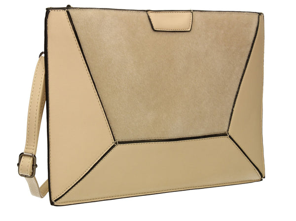 SWANKYSWANS Lydia Clutch Bag Beige Cute Cheap Clutch Bag For Weddings School and Work