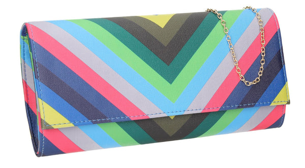 SWANKYSWANS Margot Clutch Bag Blue Cute Cheap Clutch Bag For Weddings School and Work
