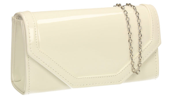 SWANKYSWANS Melanie Clutch Bag White Cute Cheap Clutch Bag For Weddings School and Work