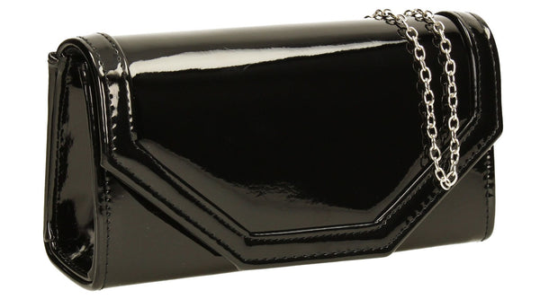 SWANKYSWANS Melania Clutch Bag Black Cute Cheap Clutch Bag For Weddings School and Work