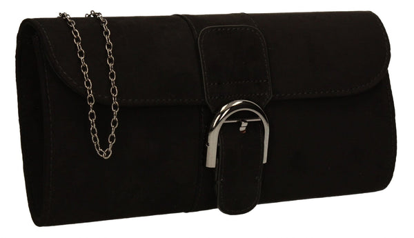 SWANKYSWANS Melbourne Clutch Bag Black Cute Cheap Clutch Bag For Weddings School and Work