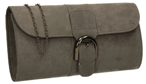SWANKYSWANS Melbourne Clutch Bag Grey Cute Cheap Clutch Bag For Weddings School and Work