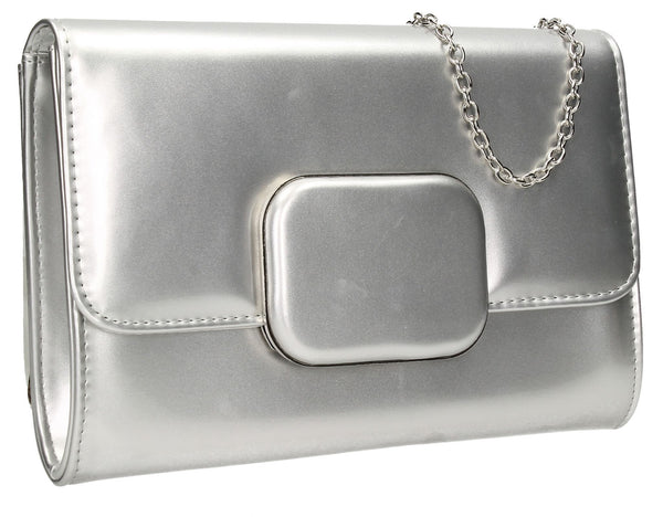 SWANKYSWANS Merci Clutch Bag Silver Cute Cheap Clutch Bag For Weddings School and Work