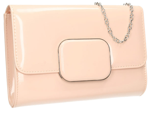 SWANKYSWANS Merci Clutch Bag Pink Beige Cute Cheap Clutch Bag For Weddings School and Work