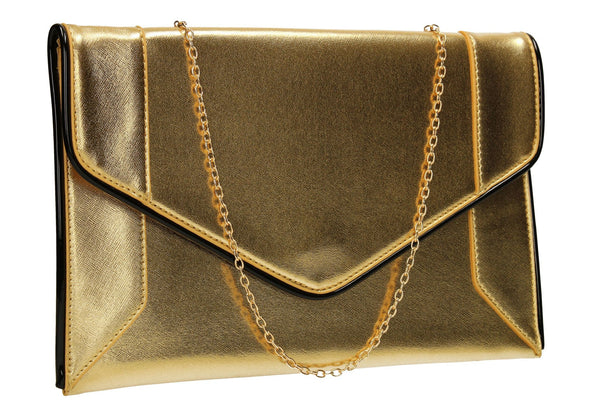 SWANKYSWANS Merlin Clutch Bag Gold Cute Cheap Clutch Bag For Weddings School and Work