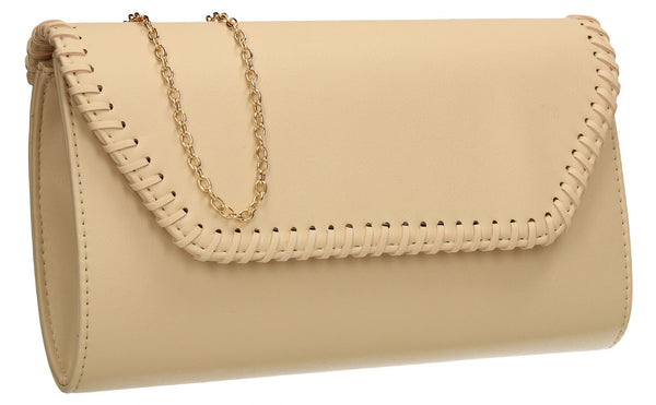 SWANKYSWANS Miller Clutch Bag Ivory Cute Cheap Clutch Bag For Weddings School and Work