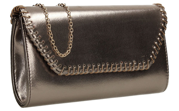 SWANKYSWANS Miller Clutch Bag Grey Cute Cheap Clutch Bag For Weddings School and Work