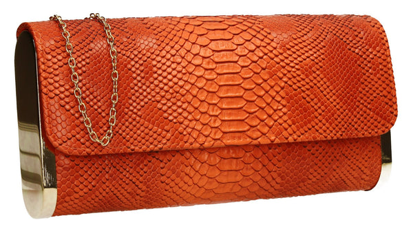 SWANKYSWANS Miranda Clutch Bag Orange Cute Cheap Clutch Bag For Weddings School and Work