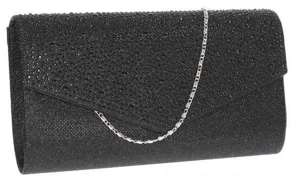 SWANKYSWANS Montary Clutch Bag Black Cute Cheap Clutch Bag For Weddings School and Work