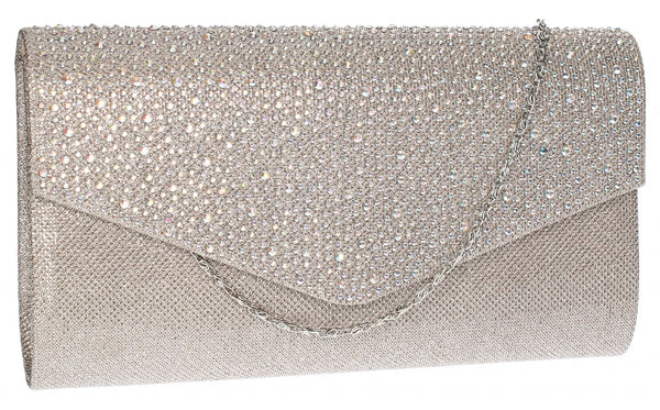 SWANKYSWANS Montary Clutch Bag Champagne Cute Cheap Clutch Bag For Weddings School and Work