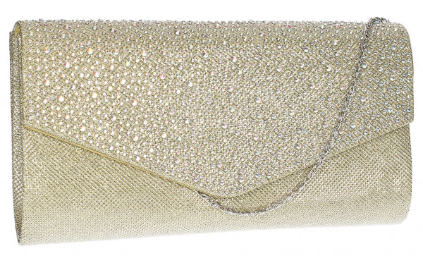 SWANKYSWANS Montary Clutch Bag Gold Cute Cheap Clutch Bag For Weddings School and Work