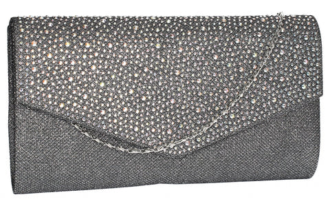 SWANKYSWANS Montary Clutch Bag Grey Cute Cheap Clutch Bag For Weddings School and Work