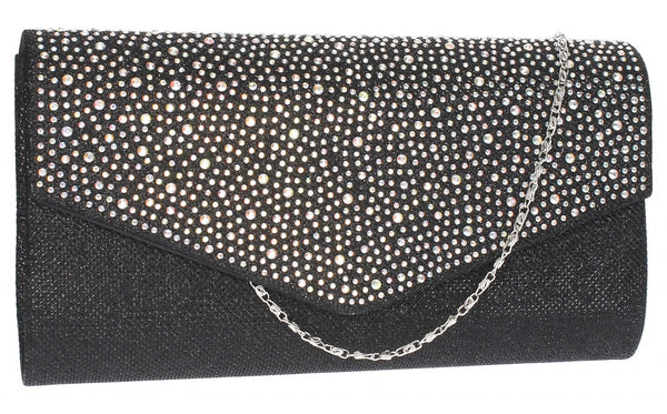 SWANKYSWANS Montary Clutch Bag Black/Silver Cute Cheap Clutch Bag For Weddings School and Work