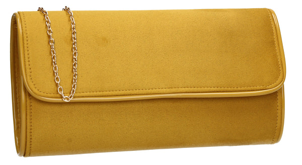 SWANKYSWANS Jamie Clutch Bag Mustard Cute Cheap Clutch Bag For Weddings School and Work