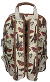 Swanky Swans Noel Paris Butterfly Floral Backpack with Tablet Case - WhiteBeautiful cheap school backpack bag